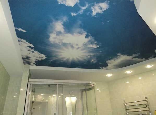 Натяжные потолки немецкие фотопечать небо 3D двухуровневые