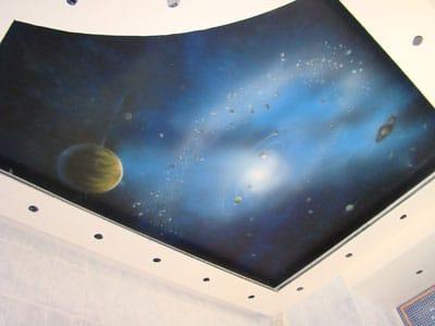 Натяжные потолки звездное небо двухуровневые