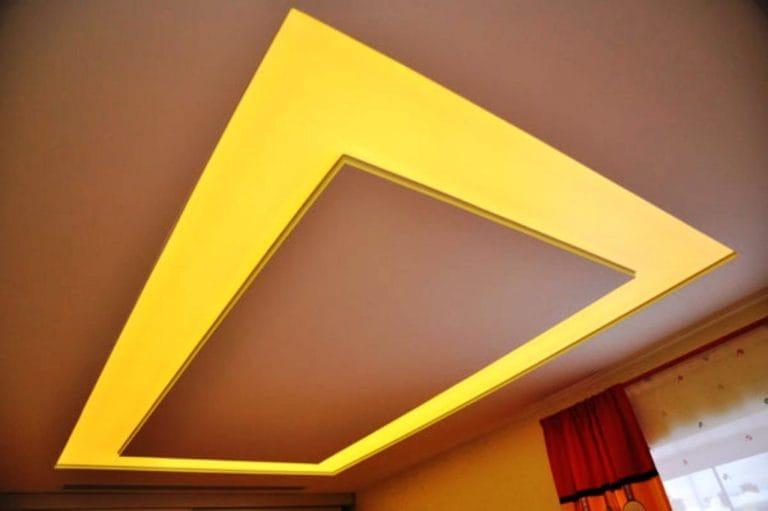 Натяжные потолки полупрозрачные комбинированные