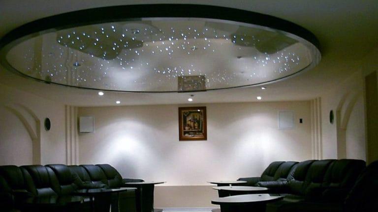 Натяжные потолки для офиса с подсветкой