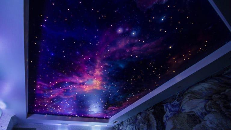 Натяжные потолки звездное небо двухуровневые глянцевые