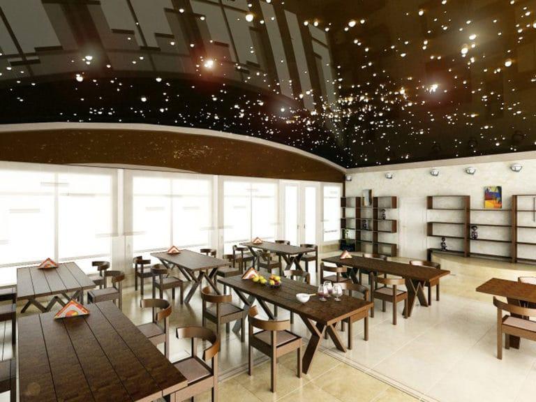 Натяжные потолки звездное небо для офиса