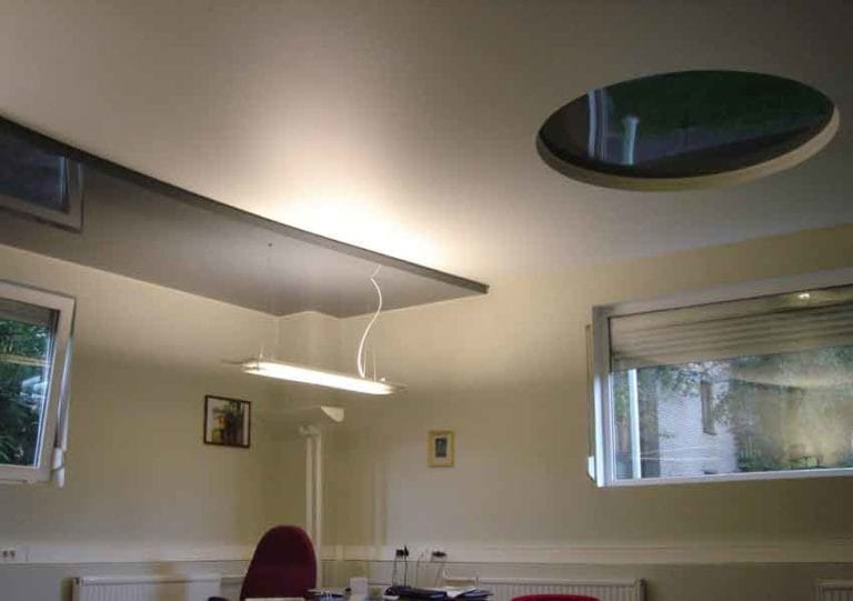 Натяжные потолки комбинированные для офиса