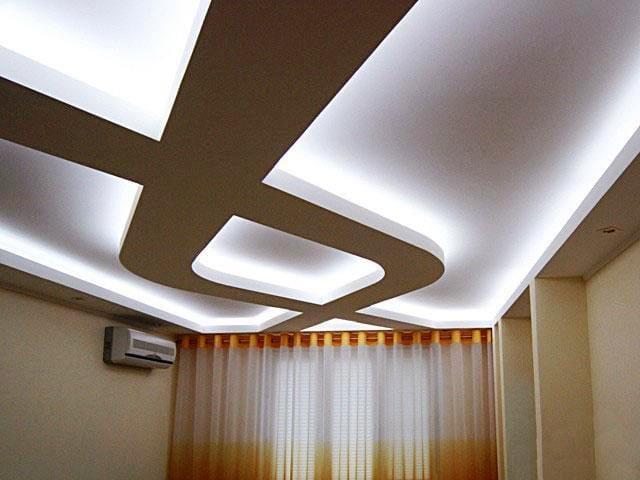 Натяжные потолки полупрозрачные многоуровневый узор