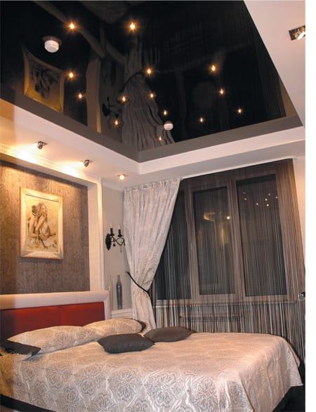 Натяжные потолки звездное небо глянцевые для спальни