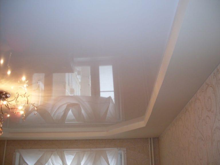 Натяжные потолки французские белые глянцевые