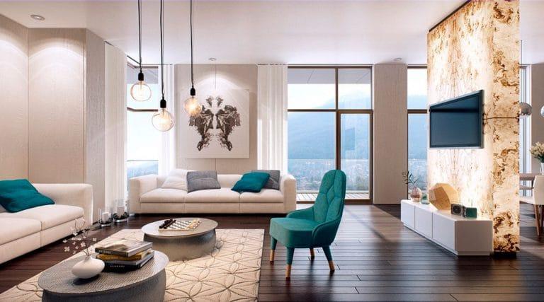 Натяжные потолки сатиновые белые для зала