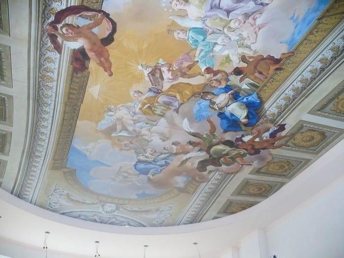 Натяжные потолки художественные матовые