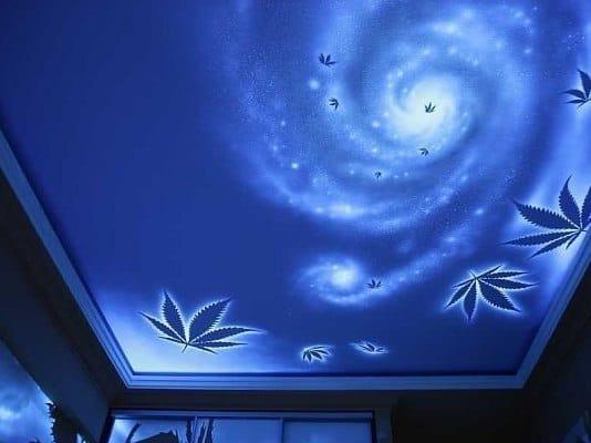 Натяжные потолки звездное небо одноуровневые с подсветкой