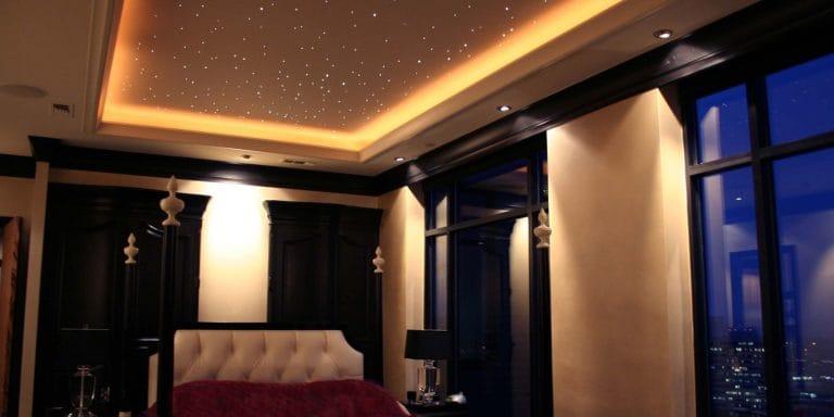 Натяжные потолки дизайн звездное небо с подсветкой для спальни