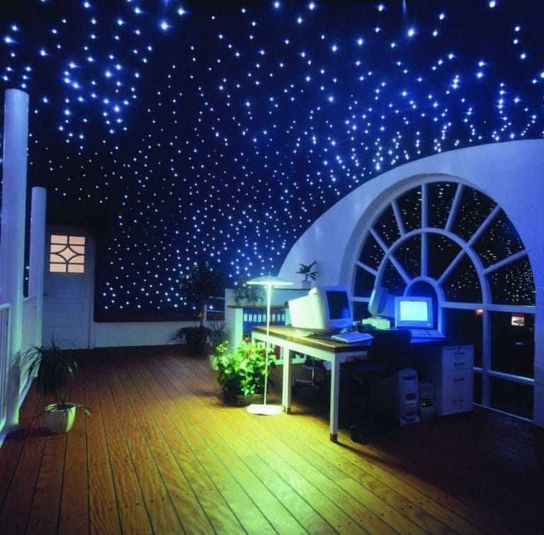 Натяжные потолки дизайн звездное небо с подсветкой для офиса
