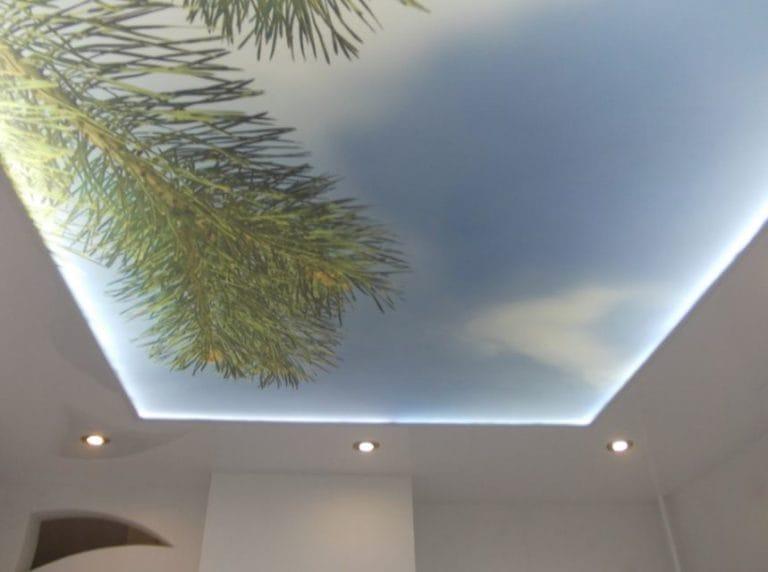 Натяжные потолки 3D с подсветкой
