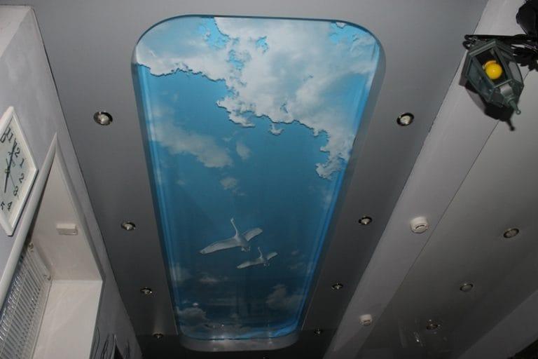 Натяжные потолки 3D двухуровневые