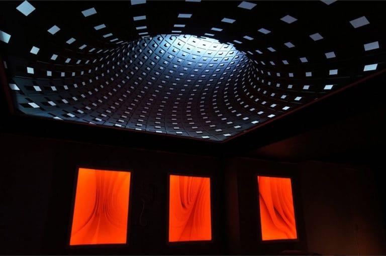 Натяжные потолки 3D для спальни