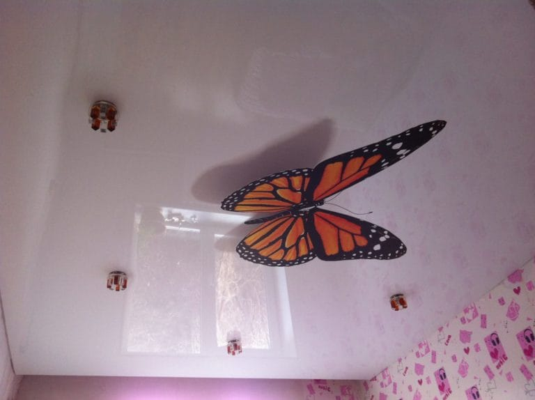 Натяжные потолки 3D одноуровневые глянцевые