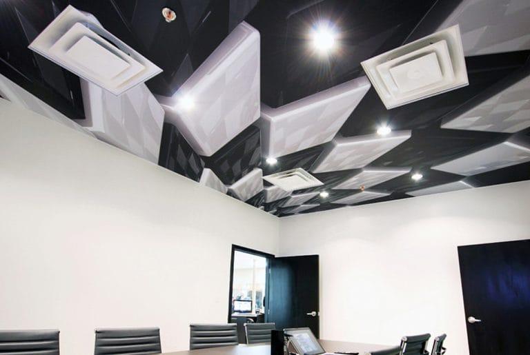 Натяжные потолки 3D для офиса