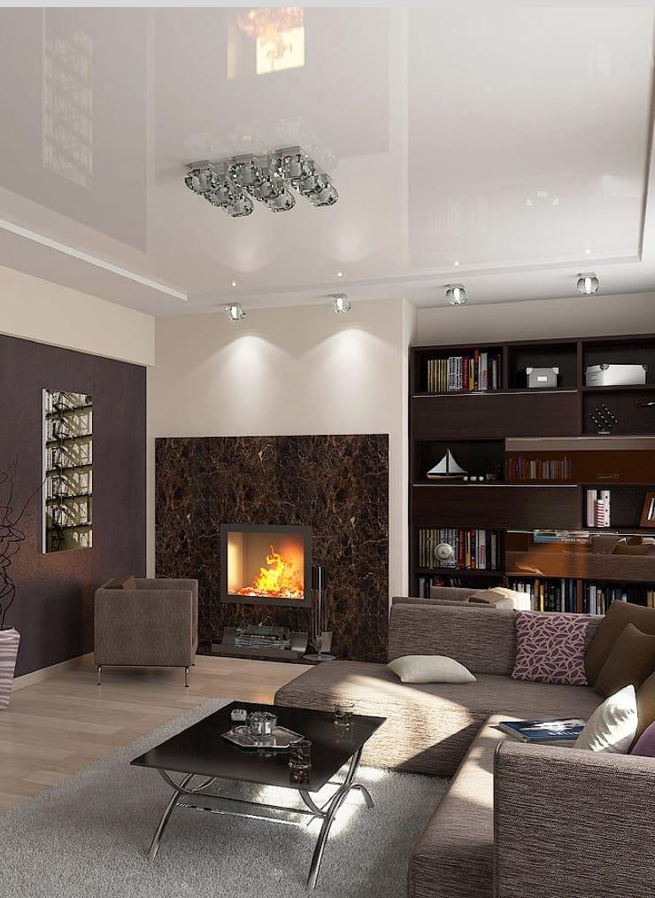 Натяжные потолки глянцевые для зала