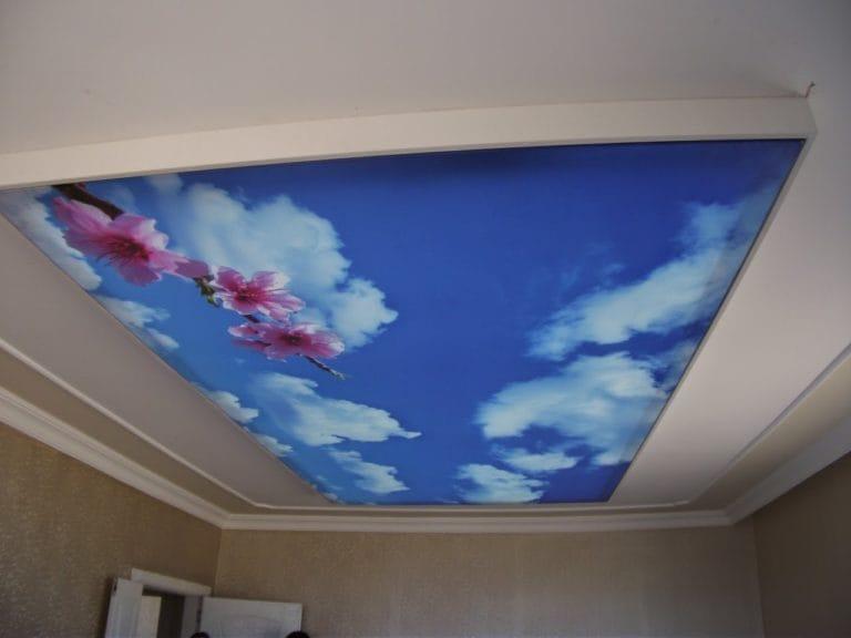 Натяжные потолки 3D многоуровневые