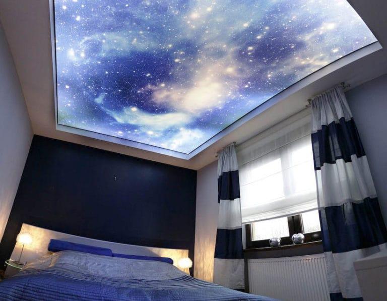 Натяжные потолки звездное небо 3D с подсветкой
