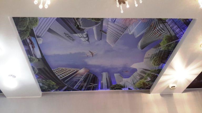 Натяжные потолки 3D одноуровневые