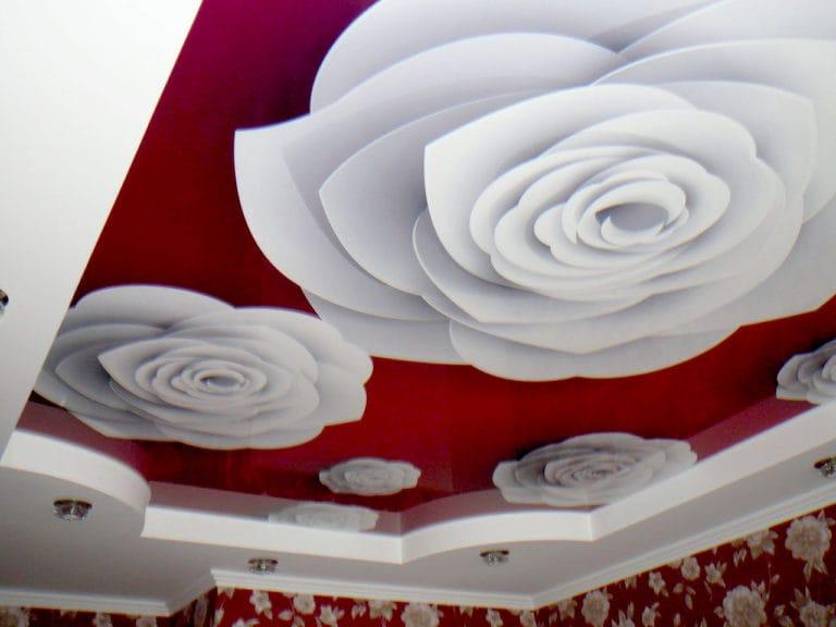Натяжные потолки с фотопечатью 3D глянцевые