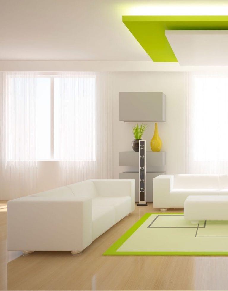 Натяжные потолки комбинированные для зала