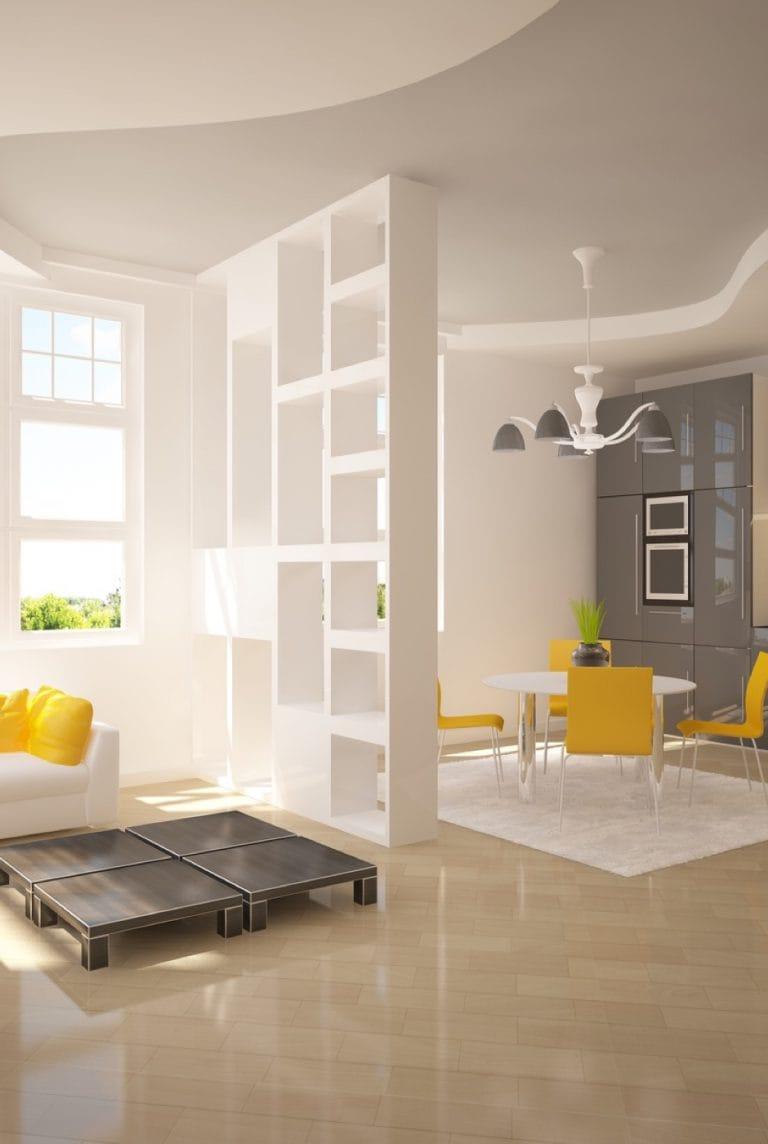 Натяжные потолки многоуровневые матовые для зала